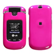 Insten® Snap-In Cover Case For LG Clout VX8370, Solid Shocking Pink