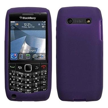 Insten® Soft Silicone Skin Case For RIM BlackBerry 9100 (Pearl 3G), Dark Purple