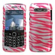 Insten® Phone Faceplate Case For BlackBerry 9100/Pearl 3G, Hot-Pink Zebra 2D Silver
