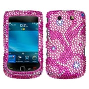 Insten® Reinforced Phone Case For BlackBerry 9800/9810, Candy Flowers Diamond