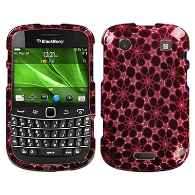 Insten® Phone Protector Cover For BlackBerry 9930/9900, Hot-Pink Twinkle Stars 2D Silver Sparkle