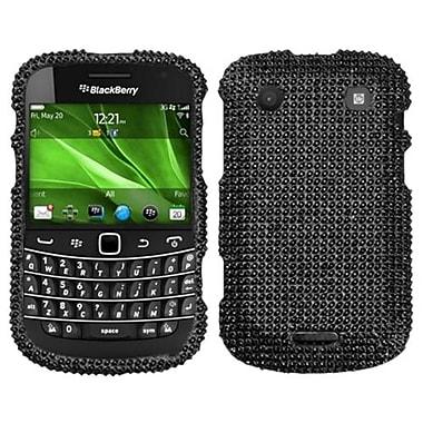 Insten® Diamante Faceplate Case For RIM BlackBerry 9900/9930, Black