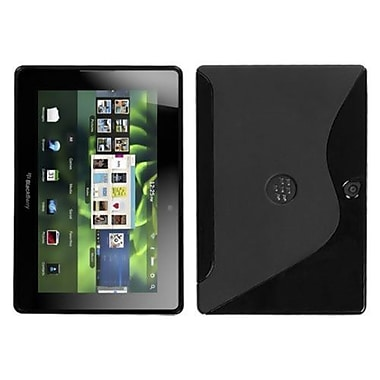Insten® TPU Skin Cover For BlackBerry Playbook, Black S-Shape