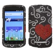 Insten® Snap-In Faceplate Case For Coolpad 5860E Quattro 4G, Heart Rhinestones