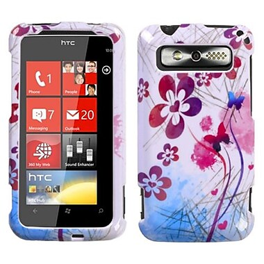 Insten® Protector Cover For HTC Trophy, Artistic Flowers