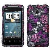 Insten® Diamante Protector Case For HTC A7373 EVO Shift 4G, Puppy Lover