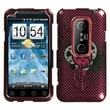 Insten® Faceplate Case For HTC EVO 3D, I Heart Rock 2D Silver Sparkle