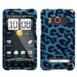 Insten® Snap-In Protector Case For HTC EVO 4G, Blue Leopard
