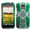 Insten® Protector Case For HTC-One S, White Celtic Cross Ring 2D Silver