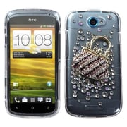Insten® Diamante Protector Case For HTC-One S, Fashion Handbag Crystal 3D