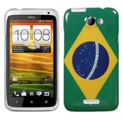 Insten® Back Protector Cover For HTC-One X/X+, Brazil National Flag