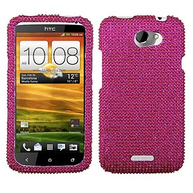 Insten® Diamante Protector Cover For HTC-One X/X+, Hot-Pink