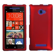 Insten® Protector Cover For HTC Windows Phone 8X, Titanium Solid Red