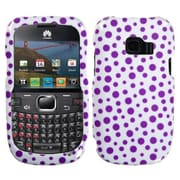 Insten® Phone Protector Cover For Huawei M636 Pinnacle 2, Purple Mixed Polka Dots