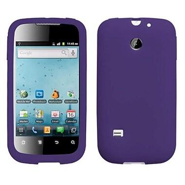 Insten® Soft Silicone Skin Case For Huawei M865 Ascend II, Dark Purple