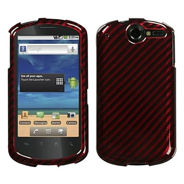 Insten® Phone Faceplate Case For Huawei U8800 Impulse 4G, Racing Fiber Red 2D Silver