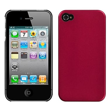 Insten® Back Protector Cover F/iPhone 4/4S, Metallic Red Blendy