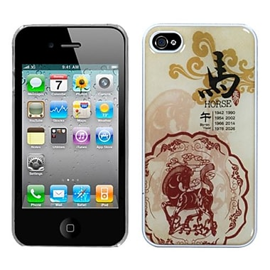 Insten® Chinese Zodiac Collection Dream Back Protector Cover F/iPhone 4/4S, Horse