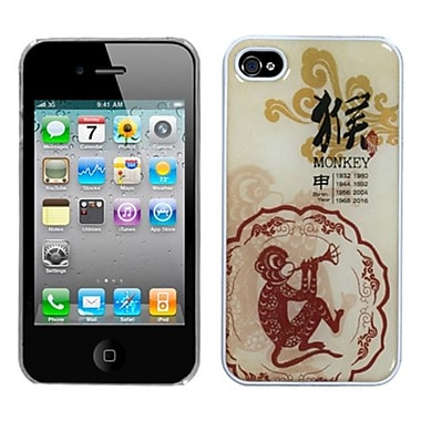 Insten® Chinese Zodiac Collection Dream Back Protector Cover F/iPhone 4/4S, Monkey