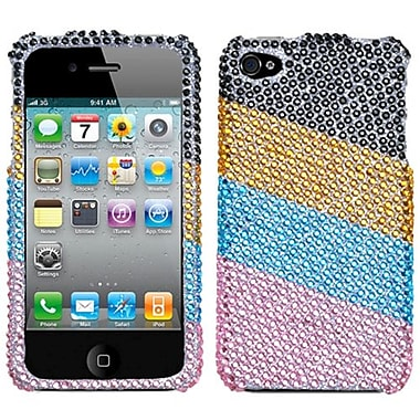Insten® Diamante Stripes Protector Covers F/iPhone 4/4S
