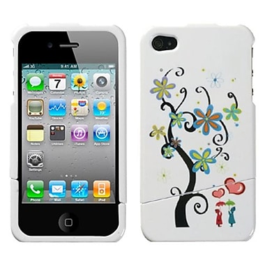 Insten® Phone Protector Cover F/iPhone 4/4S, Lover's Tree Toon Slash