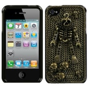 Insten® Crystal Premium 3D Diamante Protector Cover F/iPhone 4/4S, Bronzed Skeleton