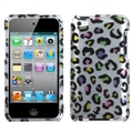 Insten® Phone Faceplate Case For iPod Touch 4th Gen, Colorful Leopard (2D Silver)