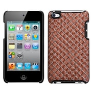 Insten® Executive Back Protector Cover For iPod Touch 4th Gen, Vermilion Plaid/Silver