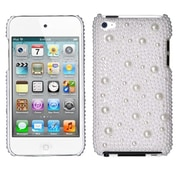 Insten® Diamante Back Protector Cover For iPod Touch 4th Gen, White Pearl