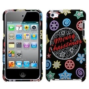 Insten® Phone Protector Cover For iPod Touch 4th Gen, Xmas Light Sparkle