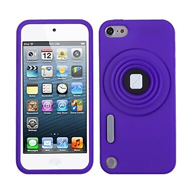 Insten® Camera Style Stand Pastel Skin Cover With Lanyard For iPod Touch 5th Gen, Purple