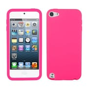 Insten® Solid Skin Cover For iPod Touch 5th Gen, Electric Pink