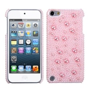Insten® Diamante Pearl Plastic Phone Protector Cover For iPod Touch 5th Gen, Pink