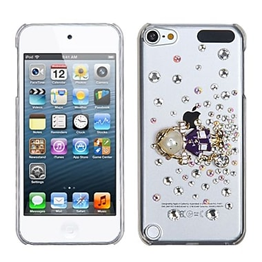 Insten® Diamante Back Protector Cover For iPod Touch 5th Gen, Purple Debby Diamond Crystal 3D