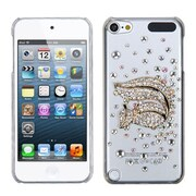 Insten® Diamante Back Protector Cover For iPod Touch 5th Gen, Gold Squirrel Crystal 3D