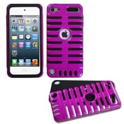 Insten® Microphone Fusion Protector Cover For iPod Touch 5th Gen, Hot-Pink/Black