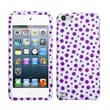 Insten® Phone Protector Case For iPod Touch 5th Gen, Purple Mixed Polka Dots