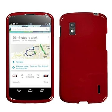 Insten® Protector Case For Google Nexus 4, Dark Red