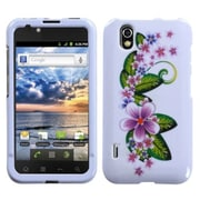 Insten® Faceplate Case For LG LS855/Marquee, Purple Small Flowers