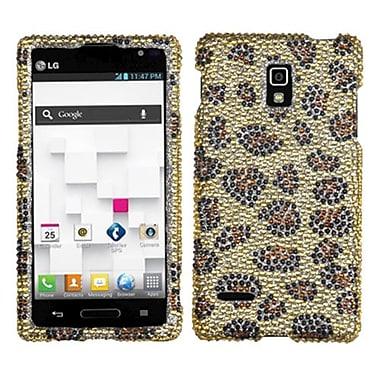 Insten® Diamante Protector Case For LG P769 Optimus L9, Camel Leopard