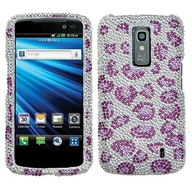 Insten® Diamante Protector Cover For LG P930 Nitro HD, Leopard/Purple