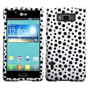 Insten® Hard Cover Case For LG Splendor/730 Venice US730, White/Black Mixed Polka Dots