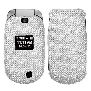 Insten® Diamante Faceplate Case For LG VN150/Revere, Silver