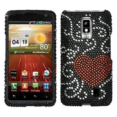 Insten® Diamante Protector Case For LG VS920 Spectrum, Heart