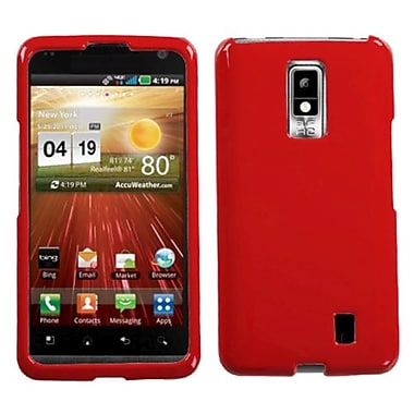 Insten® Snap-in Faceplate Case For LG Spectrum VS920, Solid Flaming Red