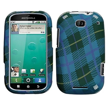 Insten® Faceplate Case For Motorola MB520 Bravo, Blue Plaid Weave