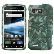 Insten® Faceplate Case For Motorola MB865/Atrix 2, Green Lizzo Digital Camo