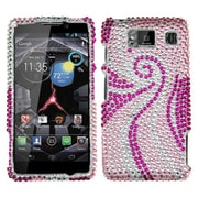 Insten® Diamante Protector Case For Motorola Droid RAZR HD XT926W, Phoenix Tail