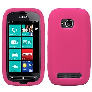 Insten® Solid Skin Cover For Nokia Lumia 710, Hot-Pink