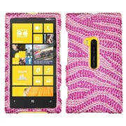 Insten® Diamante Protector Cover For Nokia Lumia 920, Pink/Hot-Pink Zebra Skin